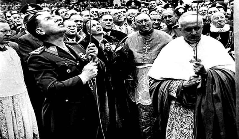 Perón y obispos