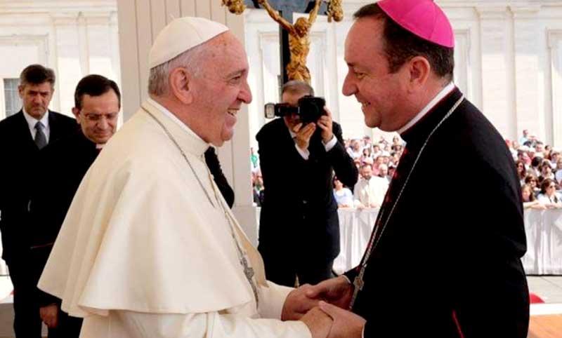 Gustavo Zanchetta recibido por el pontífice Francisco.