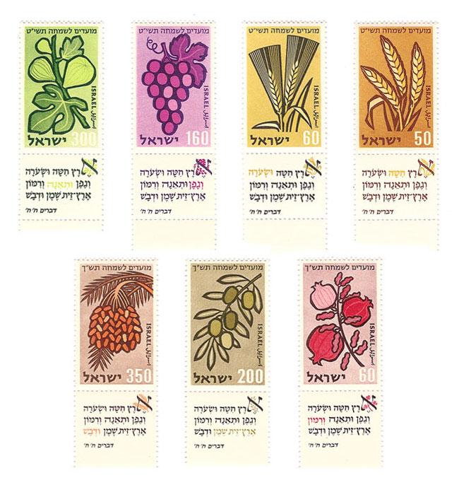 As sete espécies.