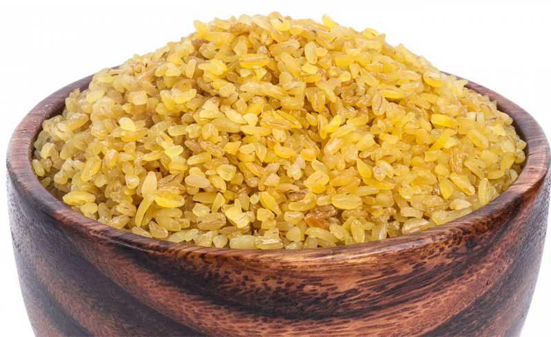 Bulgur (ingrediente feito de trigo).