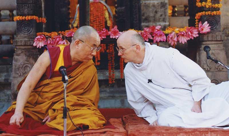 Laurence Freeman y Dalai Lama