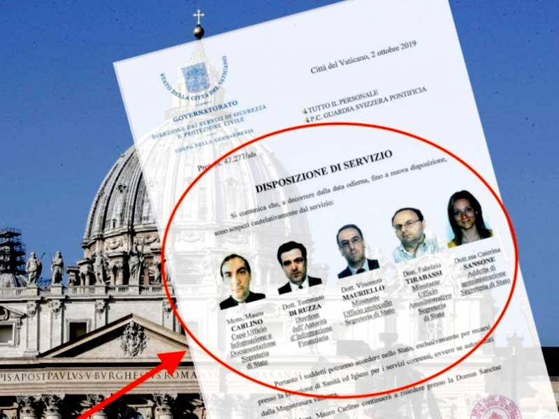 La orden contra cinco funcionarios vaticanos