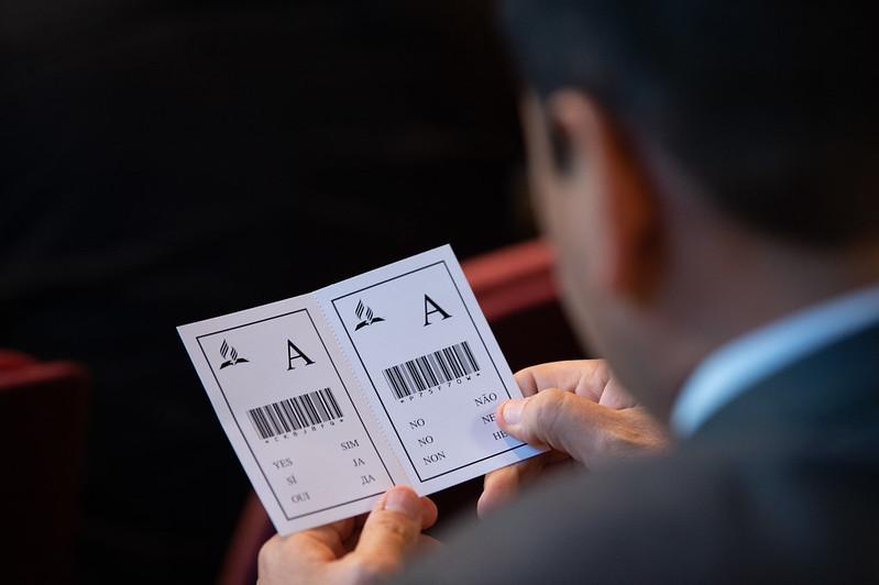 tarjeta de votación